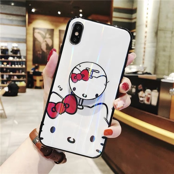 Iphone Xsmax Hello Kitty Case With Pop Socket Boutique
